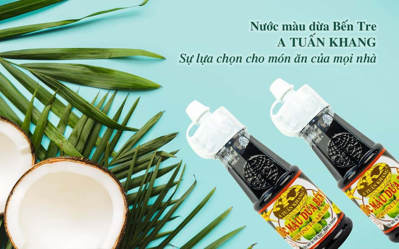 Nước màu dừa được làm 100% từ nước dừa tươi