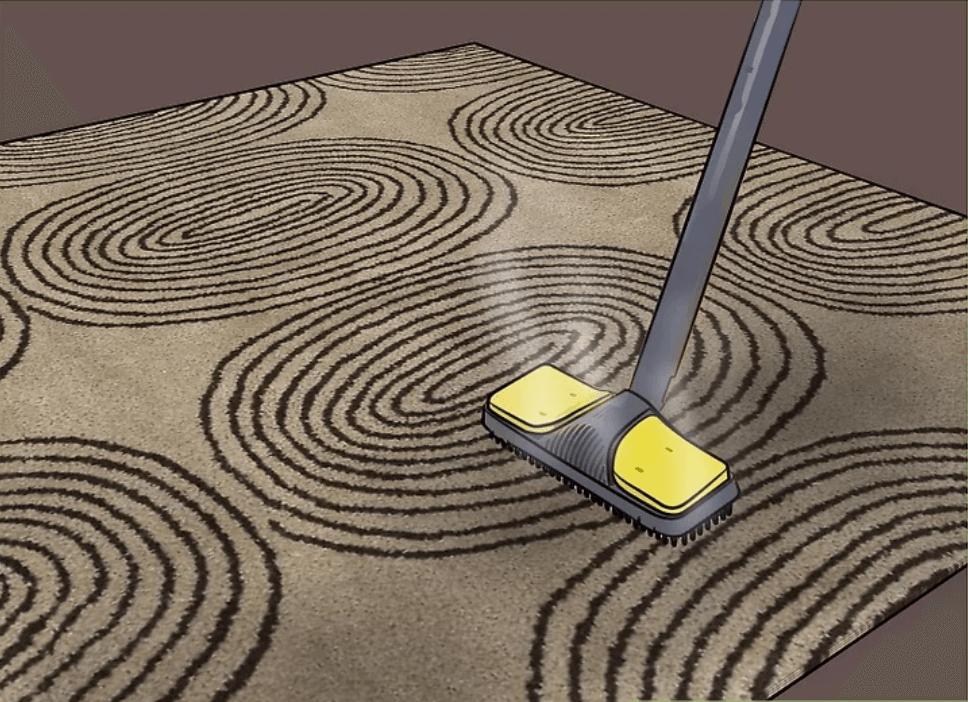 làm sạch thảm với giấm