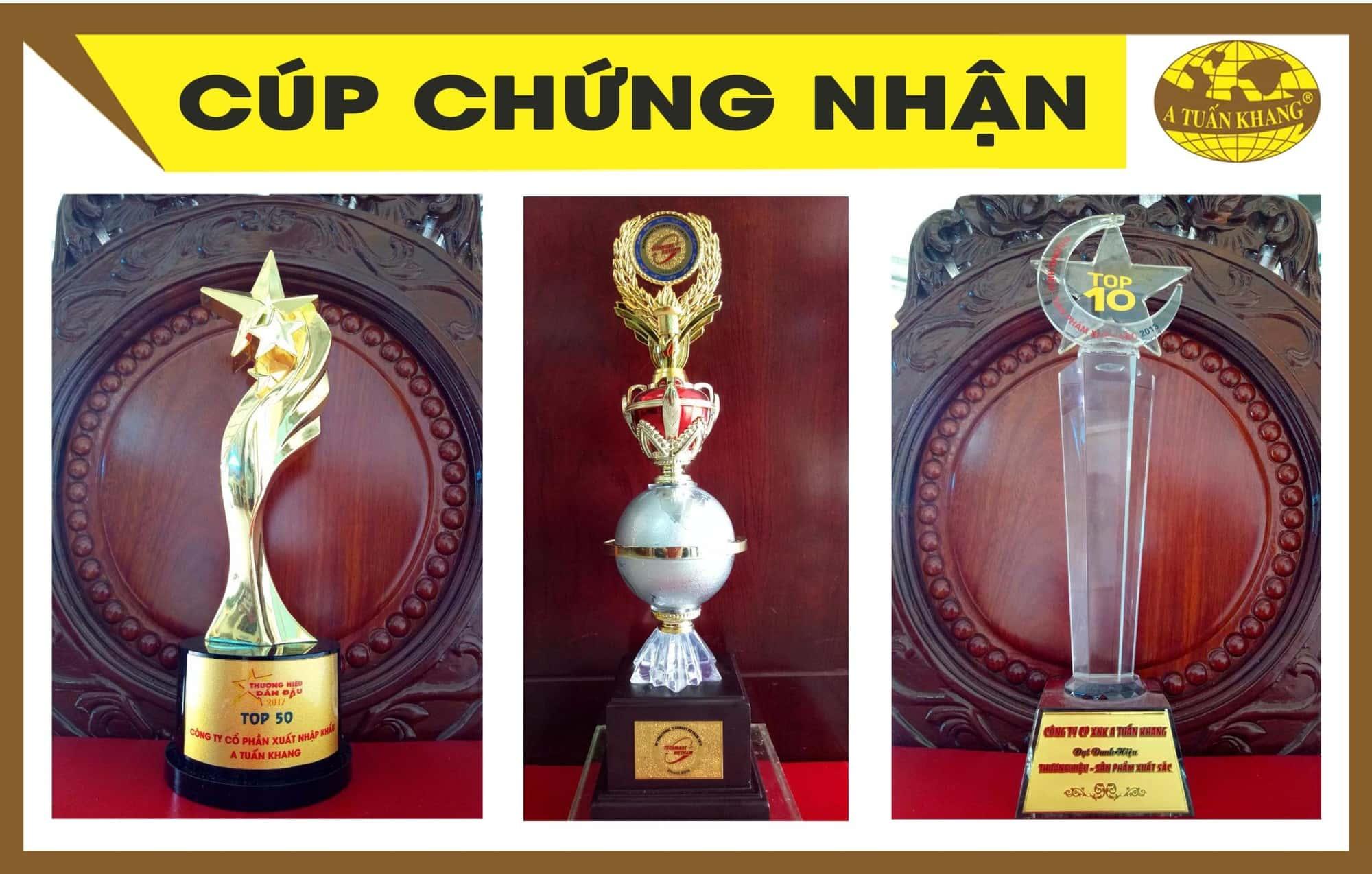 Cúp, giải thưởng chứng nhận thương hiệu A Tuấn Khang