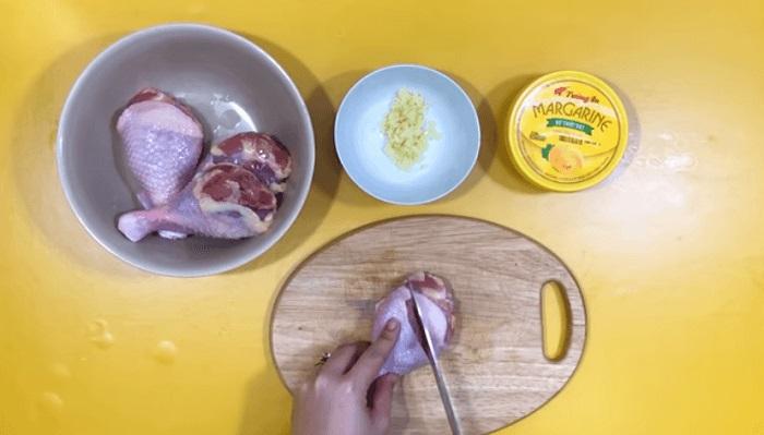 cách làm gà nướng bơ tỏi - A TUẤN KHANG