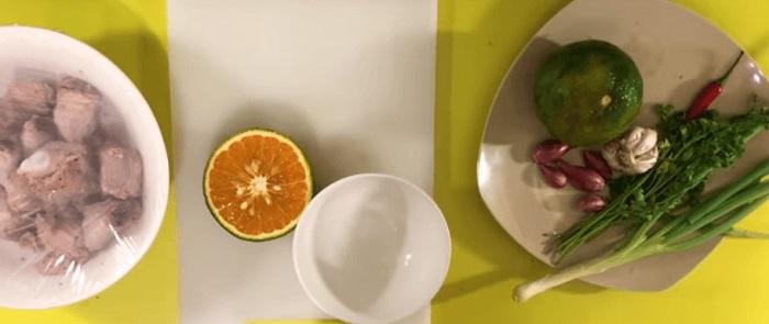 cách làm món sườn sốt cam đơn giản