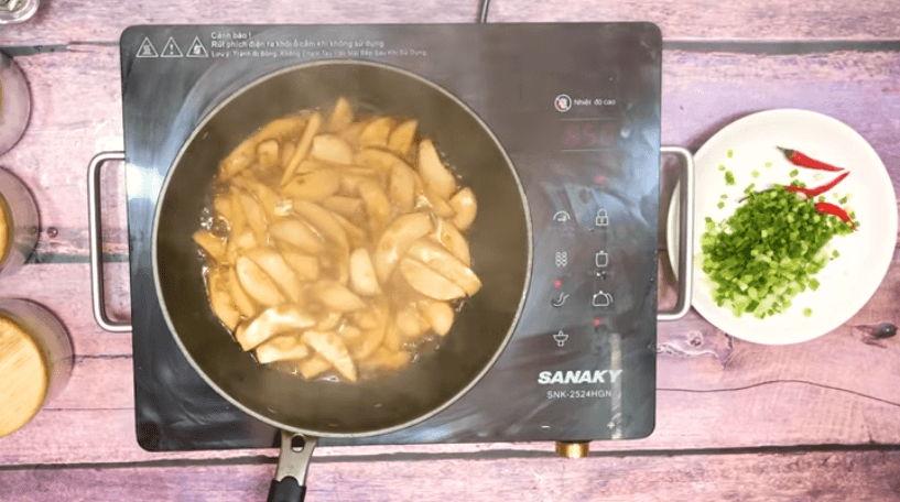 nấm đùi gà kho thơm ngon