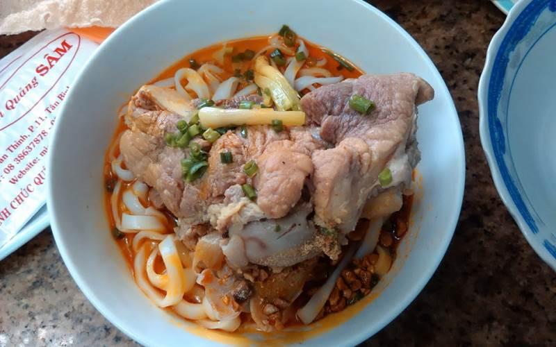 Mỳ Quảng Sâm - quán mỳ quảng ngon ở Sài Gòn
