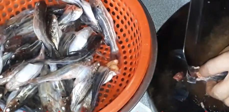 sơ chế cá chốt kho tiêu