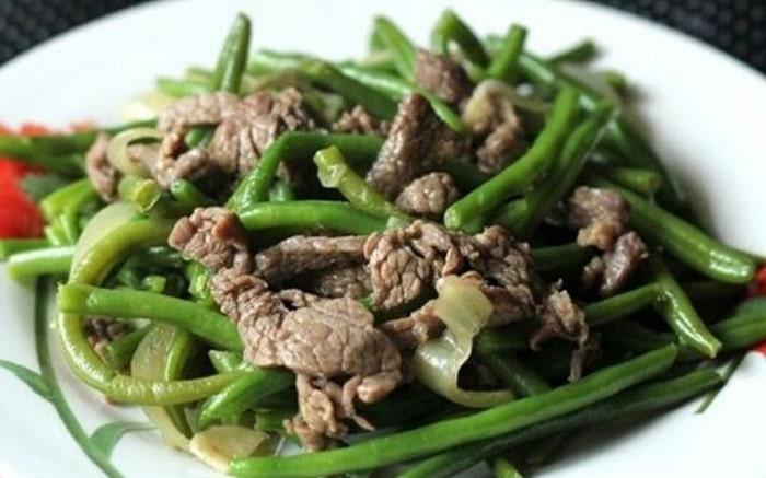 thịt bò xào đậu cô ve - A TUẤN KHANG