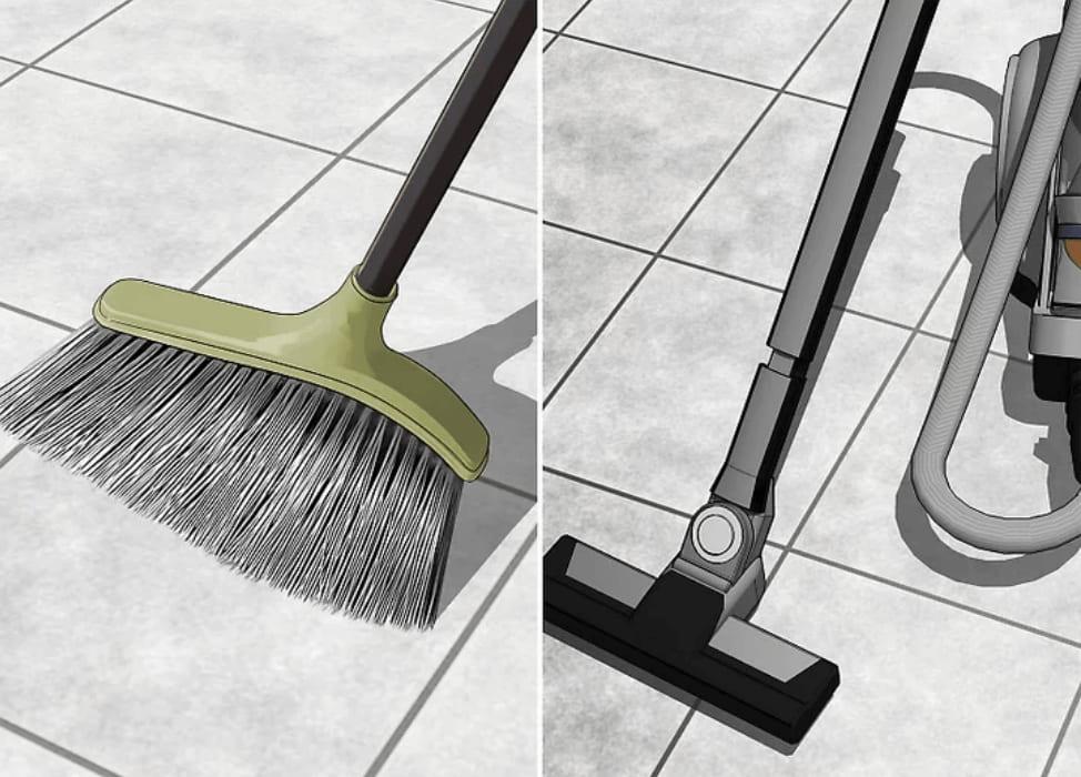 vệ sinh sàn nhà thường xuyên