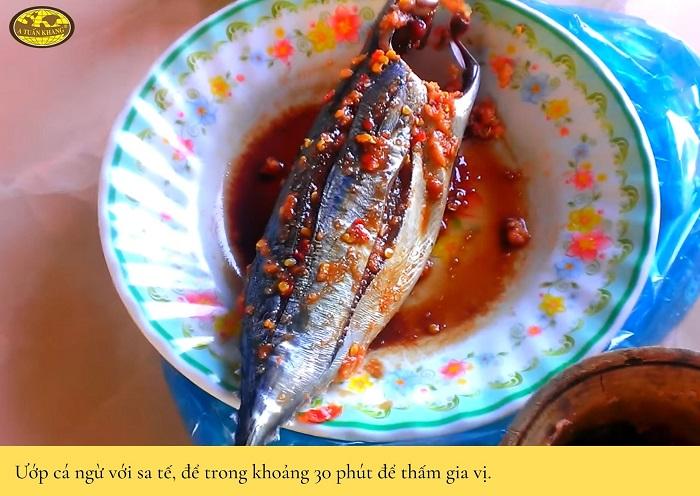 cách làm cá ngừ nướng sa tế - A TUẤN KHANG