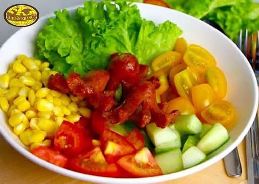 cách làm salad dầu giấm