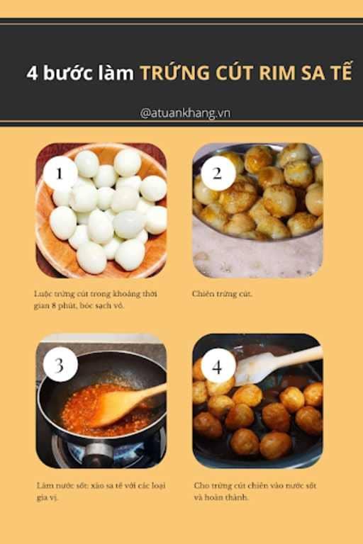 cách làm trứng cút rim sa tế