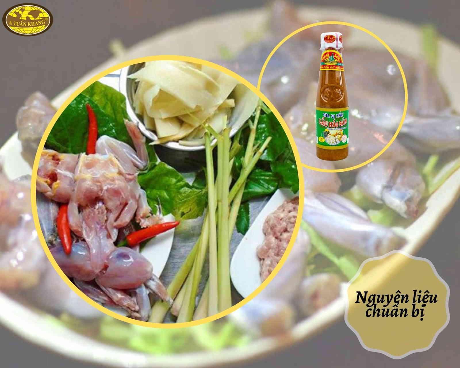 cách nấu lẩu ếch sa tế siêu cay