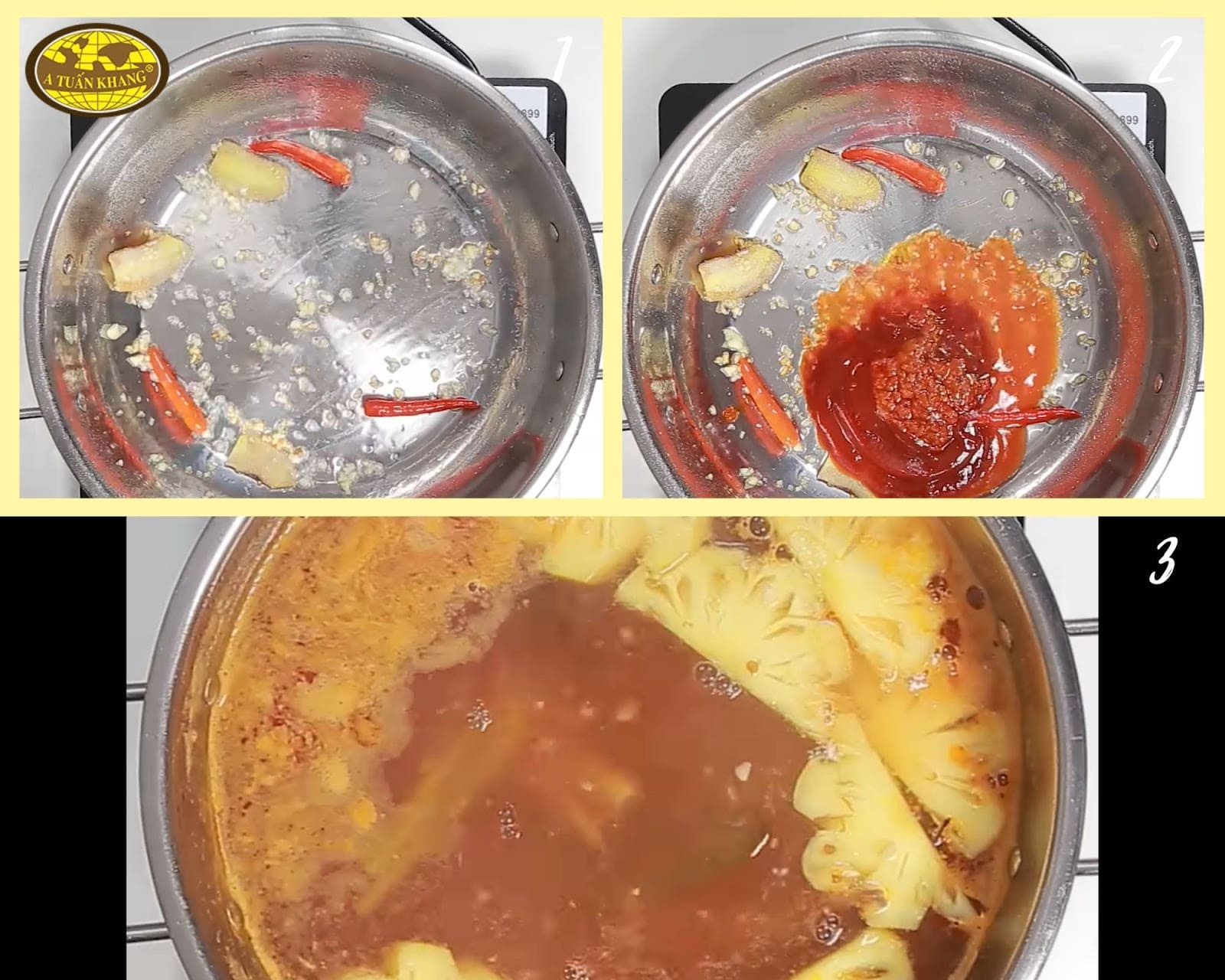 cách nấu lẩu tôm càng chua cay