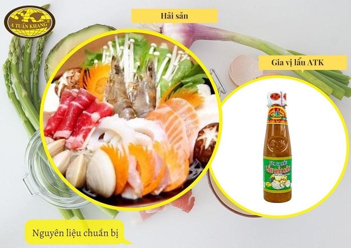 công thức nấu lẩu thái hải sản - A TUẤN KHANG