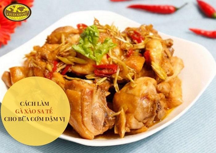gà xào sa tế cay - A TUẤN KHANG