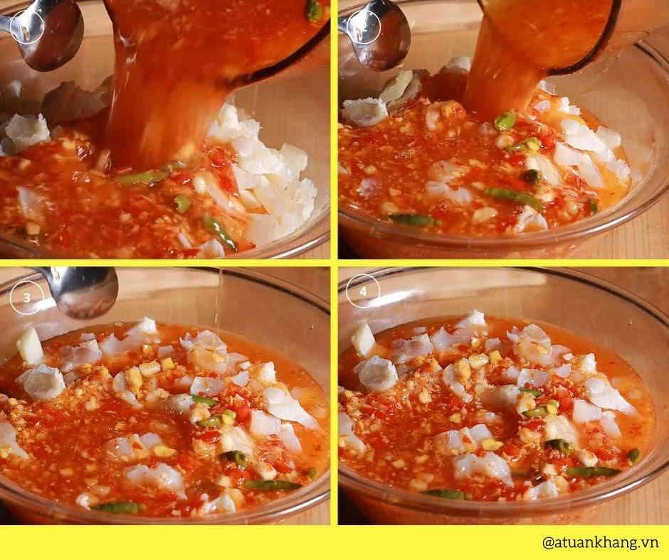hướng dẫn cách làm gân bò ngâm giấm chua ngọt