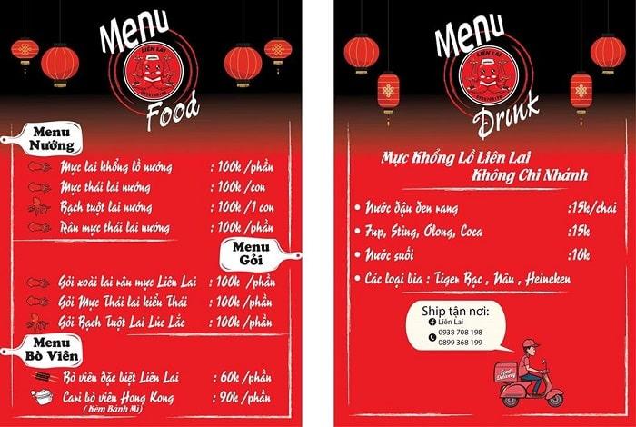 menu món bạch tuộc nướng sa tế - A TUẤN KHANG