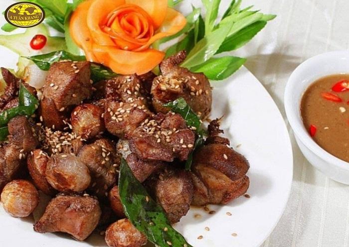 món ăn thịt dê nướng - A TUẤN KHANG