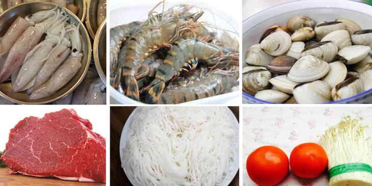 hướng dẫn cách nấu bún thái hải sản