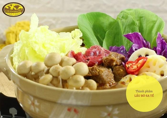 nấu lẩu bò sa tế - A TUẤN KHANG