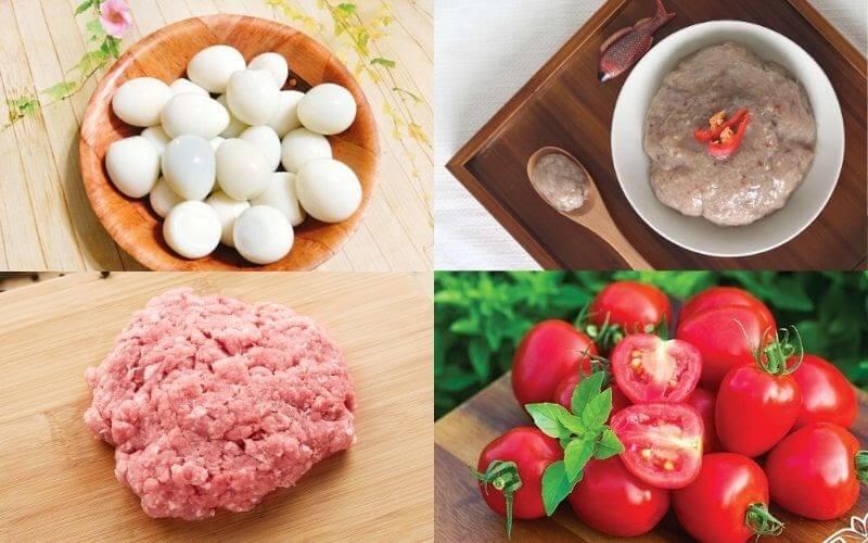 nguyên liệu chả cá bọc trứng cút - A TUẤN KHANG