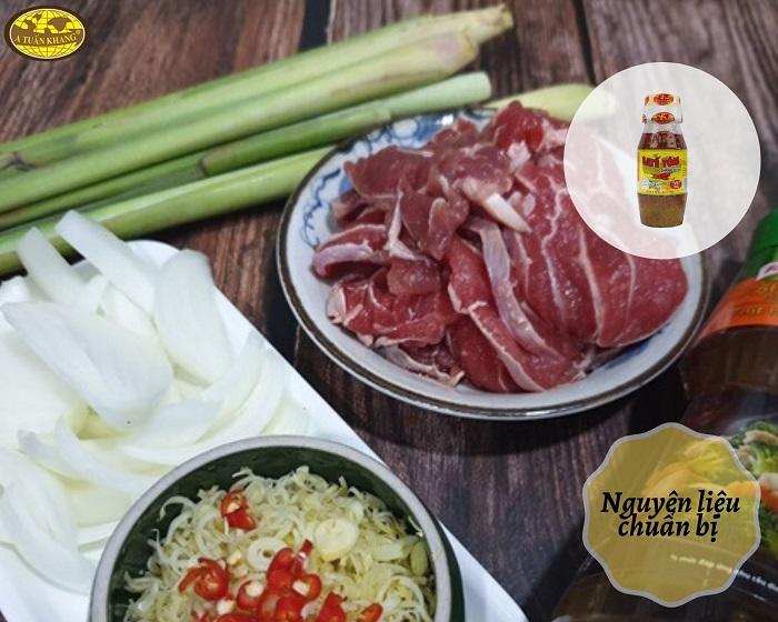 nguyên liệu món bò nấu sa tế - A TUẤN KHANG