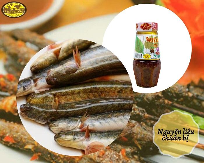 nguyên liệu cá kèo nướng muối ớt - A TUẤN KHANG