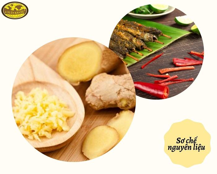 nguyên liệu món cá kèo nướng sa tế - A TUẤN KHANG