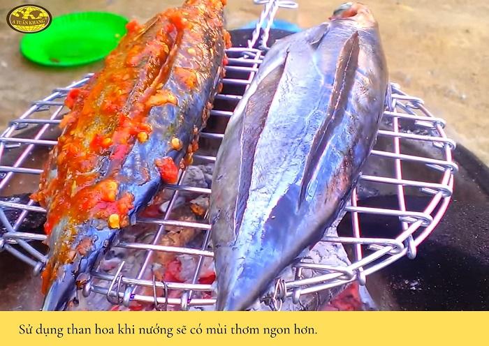 nguyên liệu món cá ngừ nướng sa tế - A TUẤN KHANG