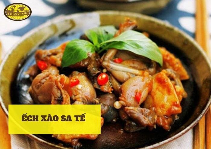 nguyên liệu món ếch xào sa tế - A TUẤN KHANG