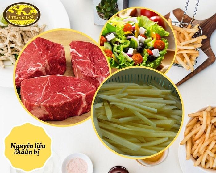 nguyên liệu thịt bò bít tết - A TUẤN KHANG