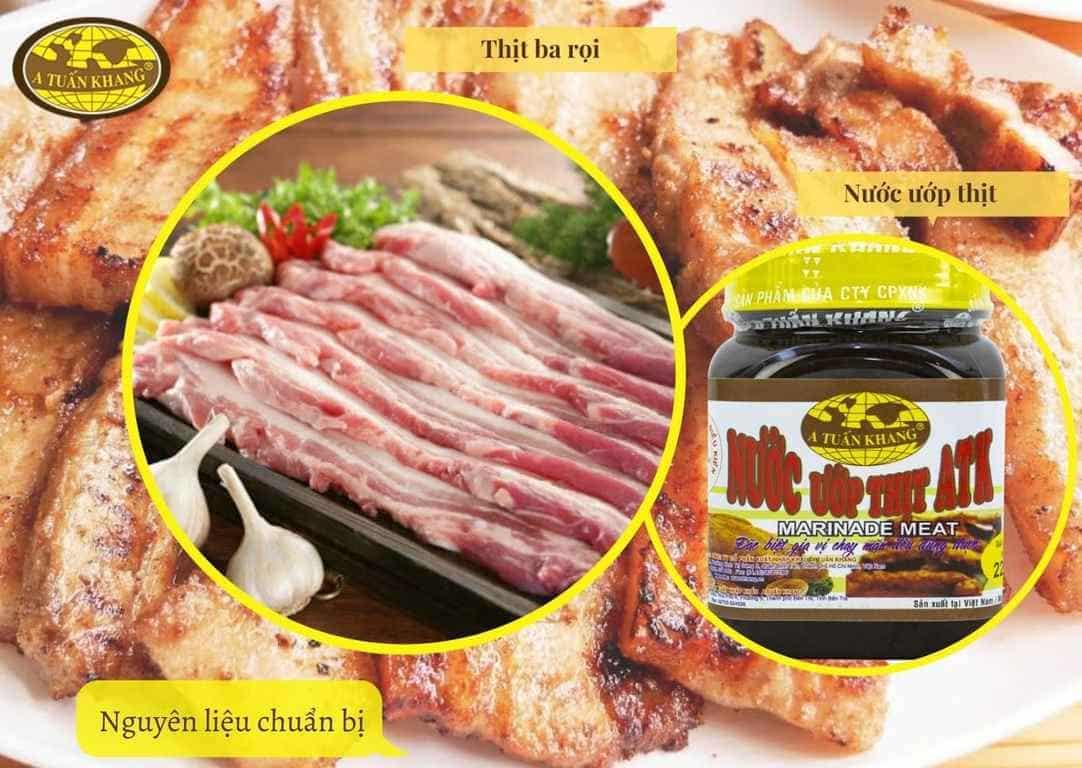 nguyên liệu ướp thịt nướng bbq