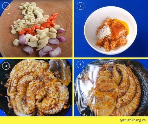 gia vị ướp bạch tuộc nướng