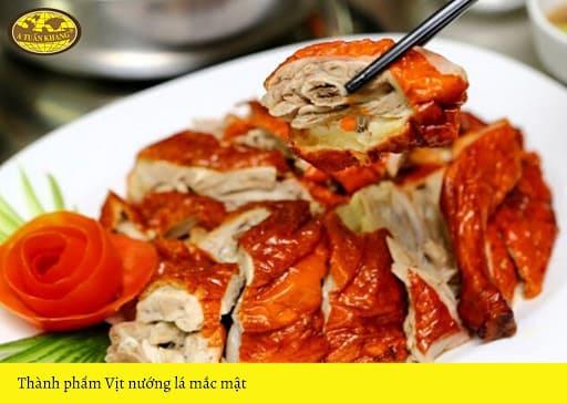 cách ướp vịt nướng lá móc mật
