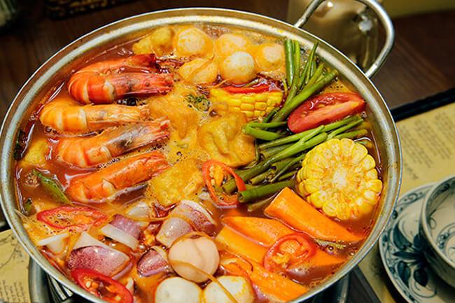Cách nấu lẩu hải sản đơn giản