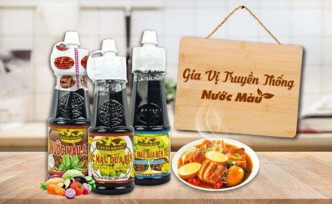 các loại sản phẩm nước màu đường và nước màu dừa của ATK