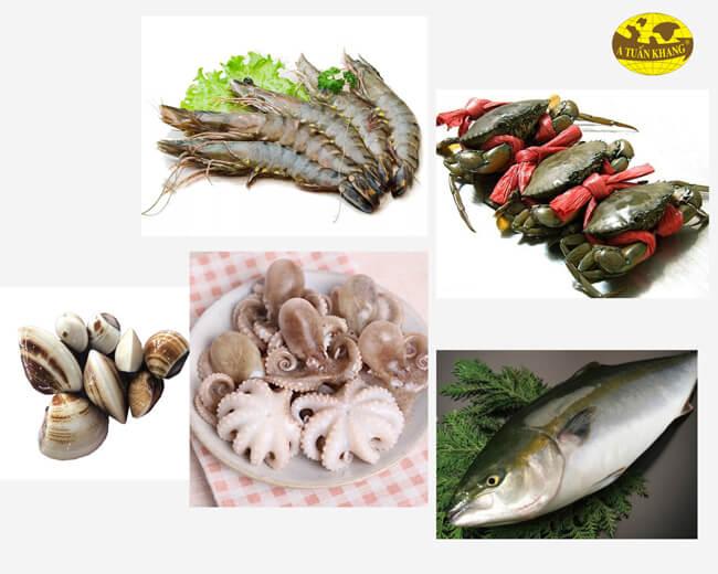 Hàm lượng dinh dưỡng các loại hải sản