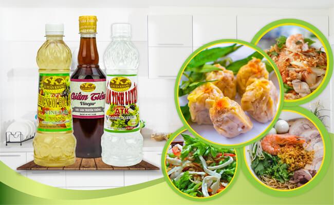 Các sản phẩm giấm từ thương hiệu A Tuấn Khang