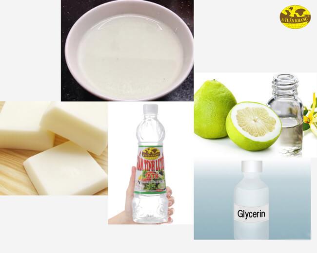 Nước rửa chén từ giấm, dầu cọ và dầu dừa