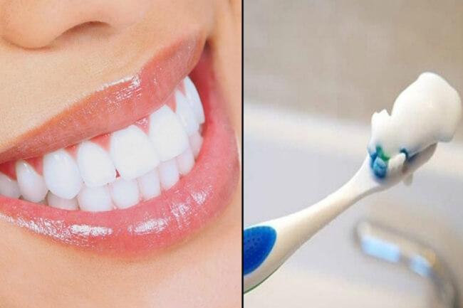 Tẩy sạch cao răng với giấm và muối
