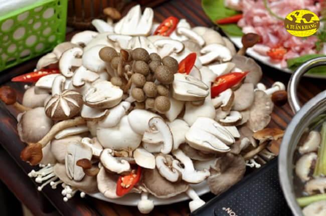 Lẩu hải sản ăn rau gì? - nấm