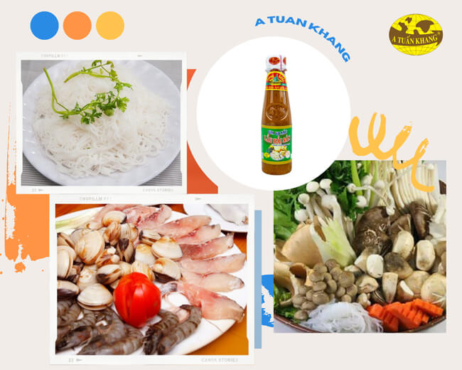 Nguyên liệu nấu món lẩu hải sản