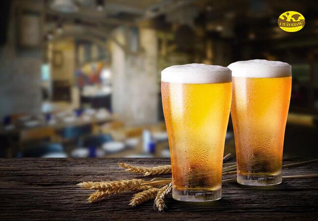 Nên kiêng dùng với bia