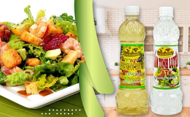 Sử dụng sản phẩm giấm chất lượng để rửa hoa quả