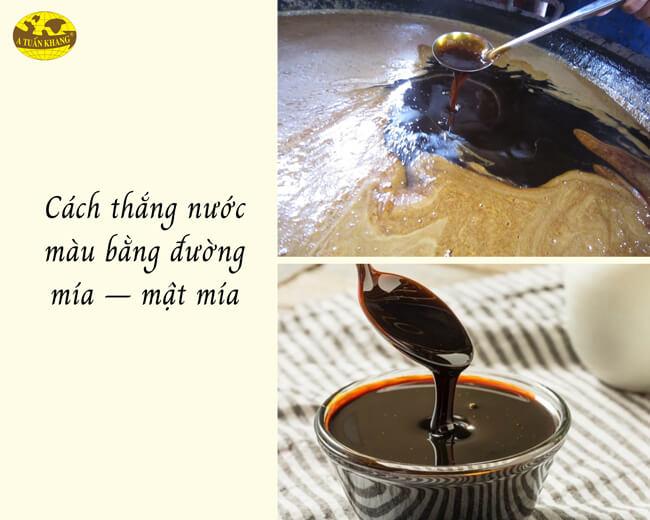 cách làm nước hàng từ mật mía