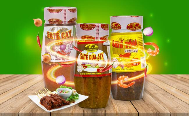 Sản phẩm sa tế ăn bún bò chất lượng ATK