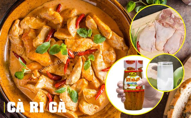 Sa tế ướp gà nấu cà ri